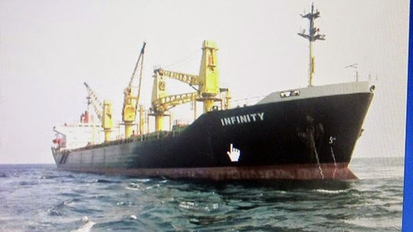 INFINITY - con tàu mà các ngư dân khẳng định là thủ phạm gây ra vụ tai nạn