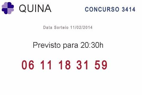 Quina - Resultado da Quina 3414