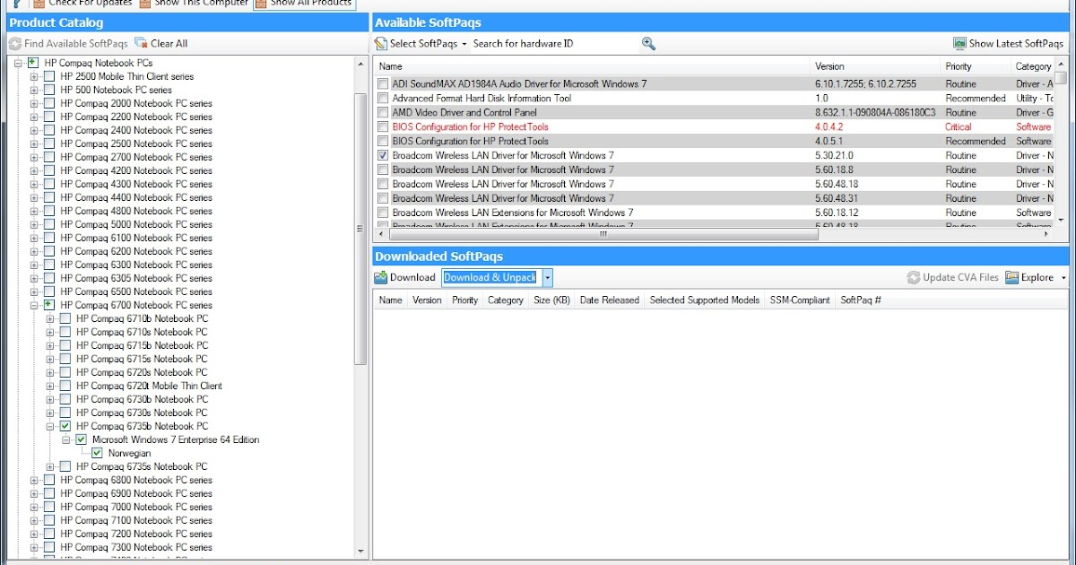 Molvik Deployment: MDT 2010/2012 -HP Softpaq Download manager