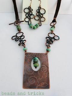 collana turchese e rame