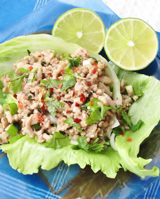 Thai Minced Pork Salad (Larb Moo) Recipe   nomsieskitchen.com
