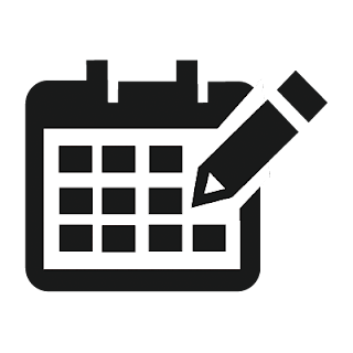 Vector illustrator calendar mono icon for designer and Developer .