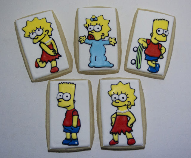 Bart, Lisa, and Maggie Simpson Cookies
