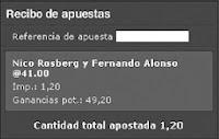 Apuestas Deportivas Formula 1 – Gran Premio de Brasil/Interlagos Alonso Rosberg Bet365