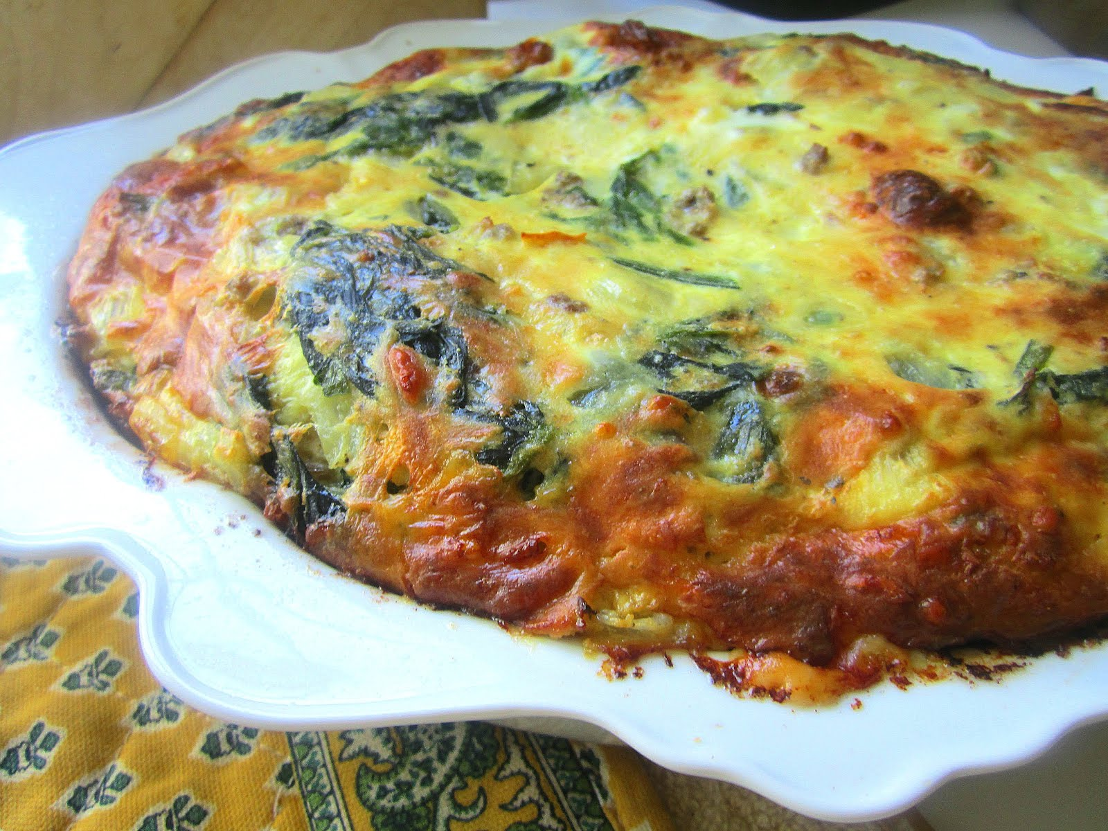Spinach Strata Recipe — Dishmaps