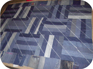 ProsperityStuff Denim Jeans Quilt in progress