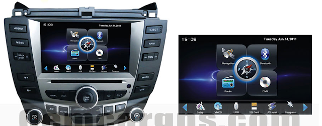7 inch honda accord audio navigation system