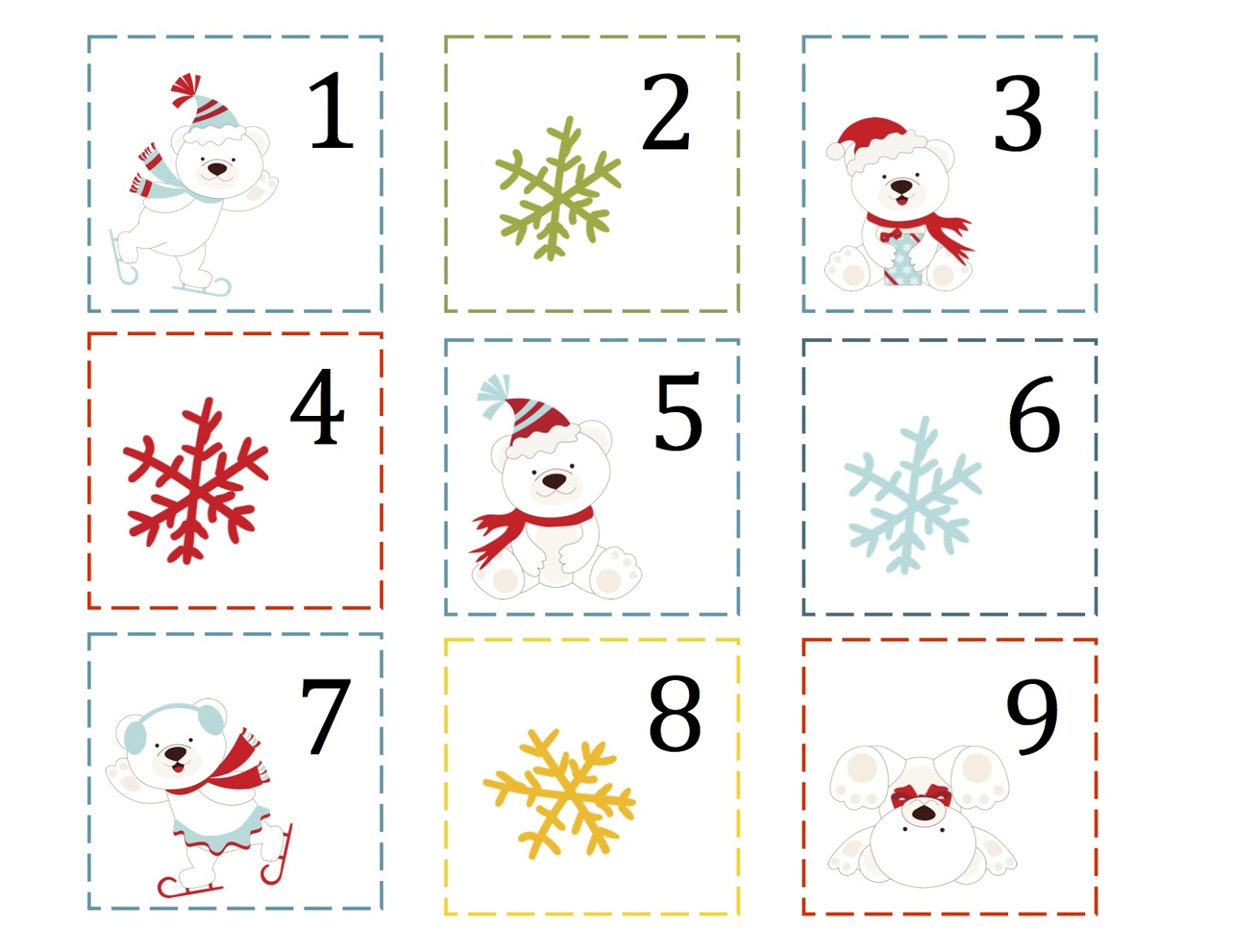 Calendar Cards Printables : Preschool printables polar bear christmas printable