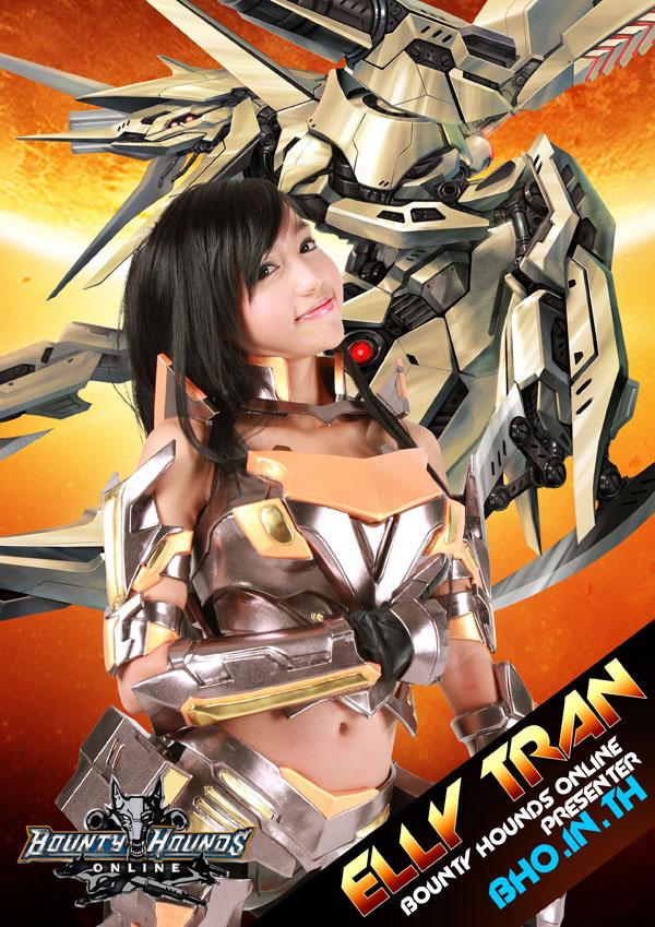foto-menarik.blogspot.com - Aksi Elly Tran dalam Poster Game Bounty Hounds Online