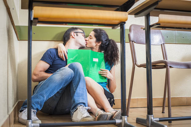 Having sex in the classroom
