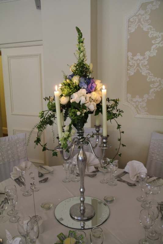 The Traditional Top Table Design was illuminated by two chapel candles ...