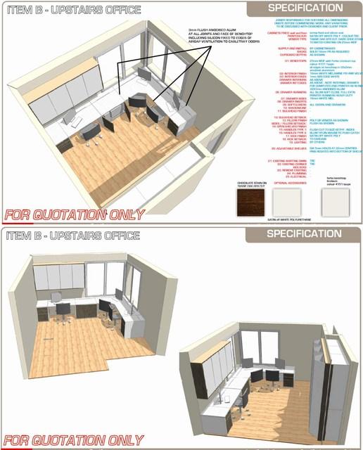 Matt michel design custom built in furniture project for Office design edinburgh