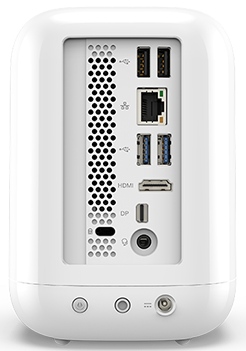 Acer Revo One showing ports