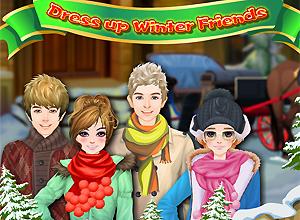Amigos en invierno