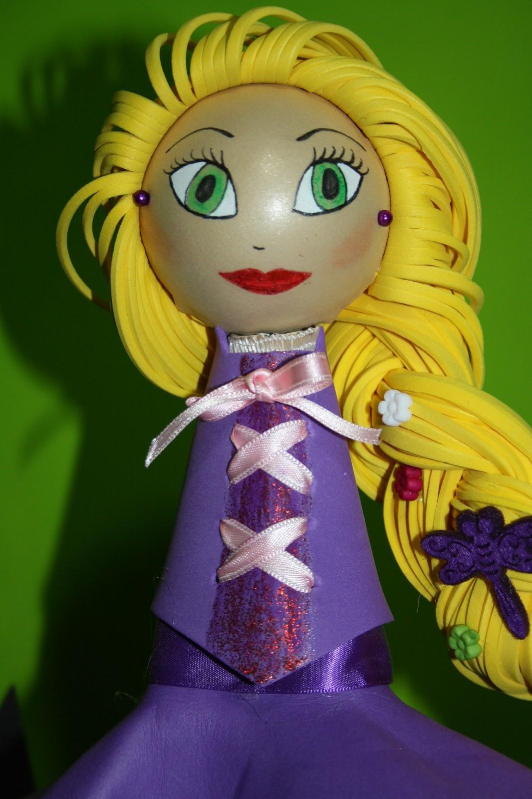 Princesa Disney Rapunzel Caja Princesas Porta Retrato De Goma Eva