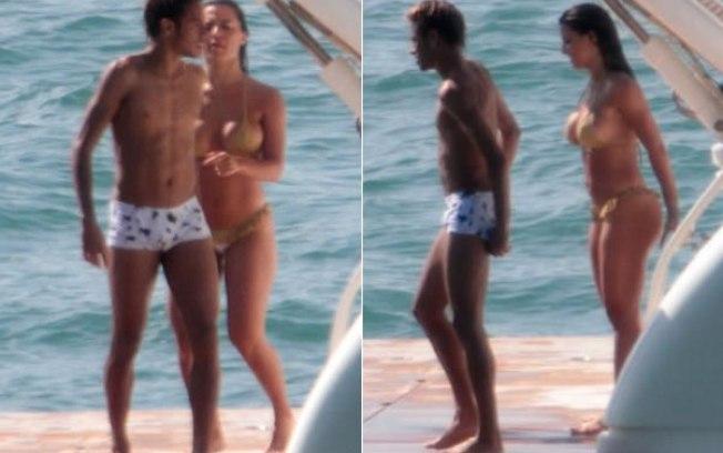 Neymar e Carol Abranches curtem tarde de sol em iate alugado pelo
