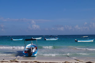Snorkeling boats in Tulum