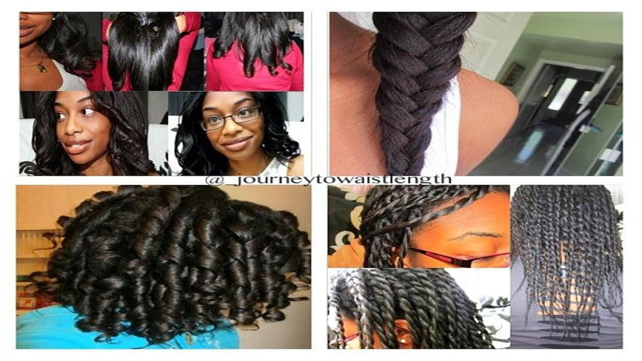 Over 10 Different Hairstyles | Relaxed, Transitioning & Natural ...