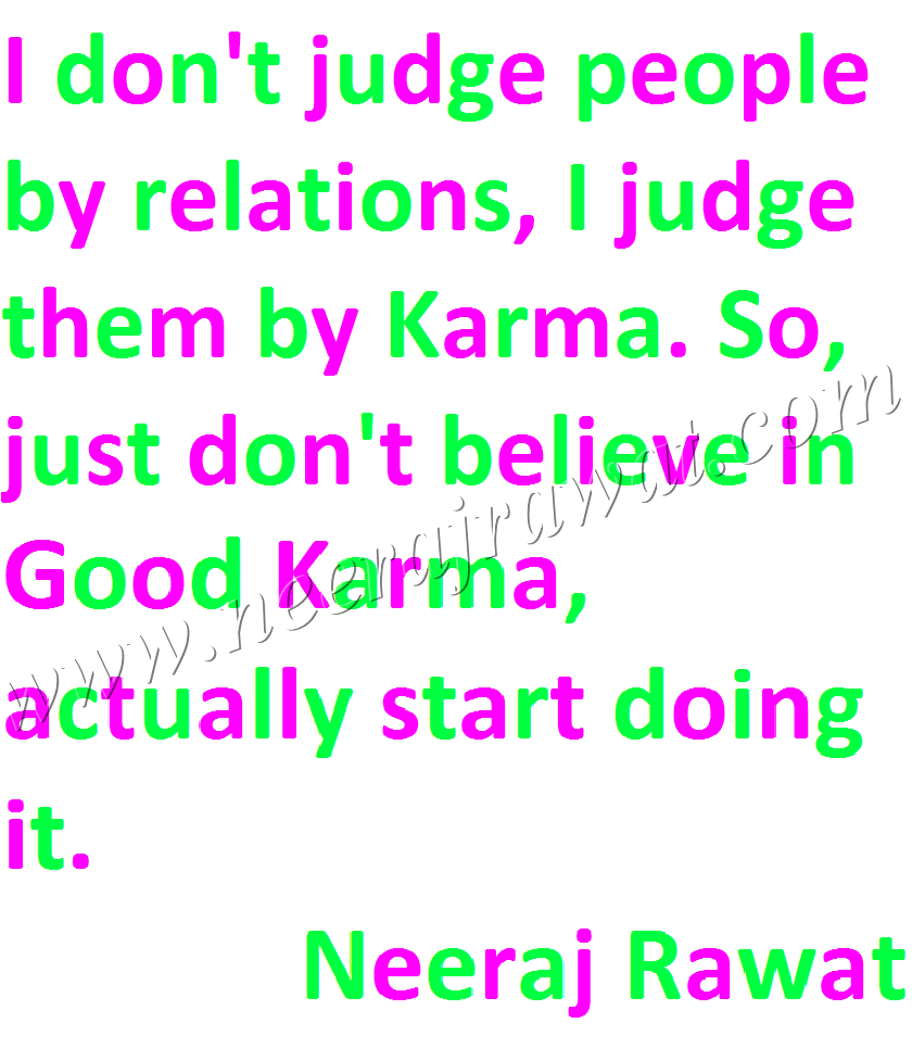 Start Doing Good Karma