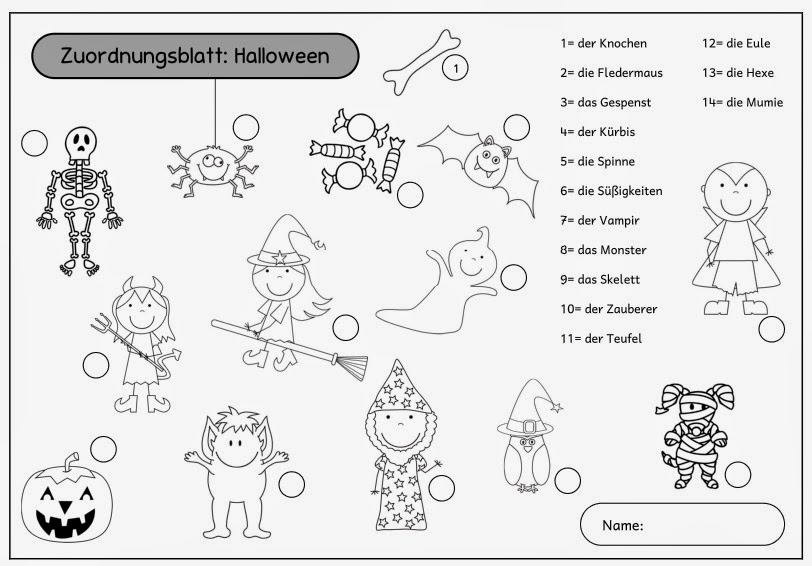 Fein Halloween Nummer Arbeitsblätter 2 Zeitgenössisch - Ideen färben ...