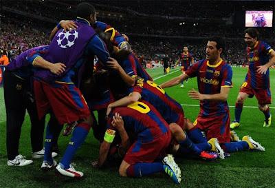 barcelona celebra su triunfo