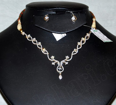 1 lakh diamond necklace