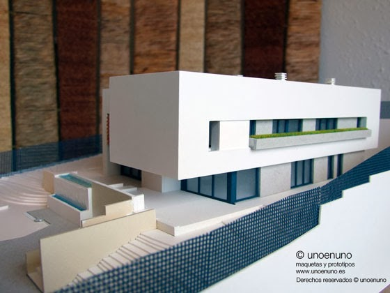 Arquitectura de casas maquetas de arquitectura for Casa minimalista maqueta
