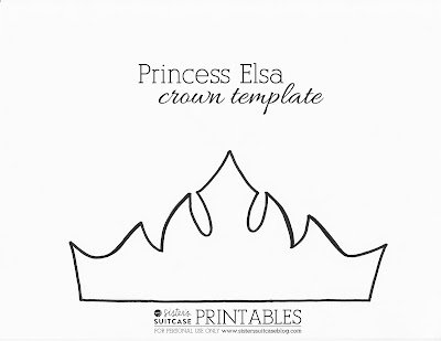 Frozen Elsa Crown Template & Sven Antler Template