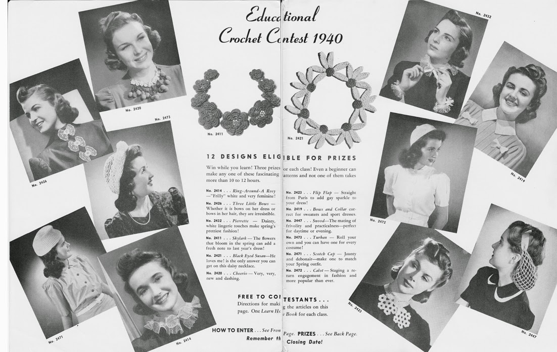 Crochet Hat Collar Patterns from Spool Cotton Company