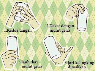 Cara memegang gelas