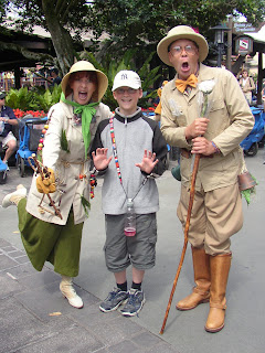 Photo - mystery cast members at Magic Kingdom 2004