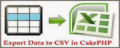 Export Data into CSV file in Cakephp