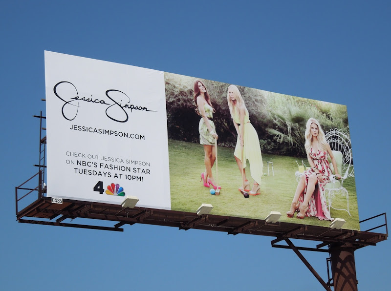 Jessica Simpson lawn croquet billboard