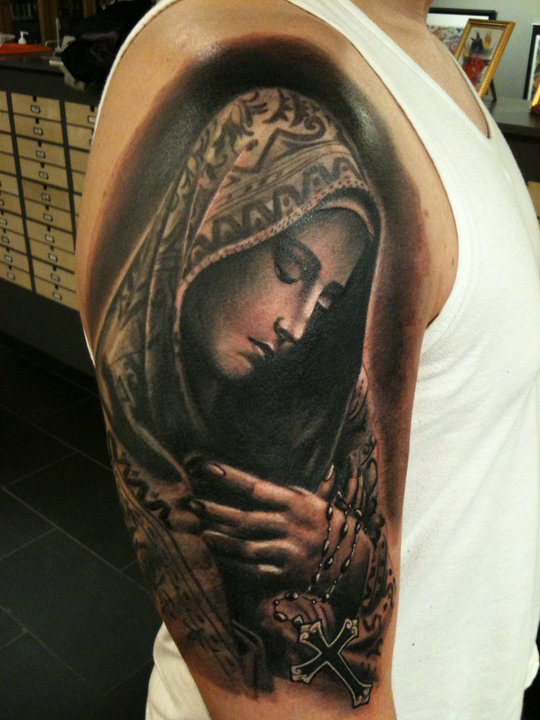 virgin mary tattoos3d tattoos. Black Bedroom Furniture Sets. Home Design Ideas