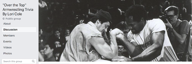 "FACEBOOK GROUP: ""Over the Top"" Armwrestling Trivia By Lori Cole"