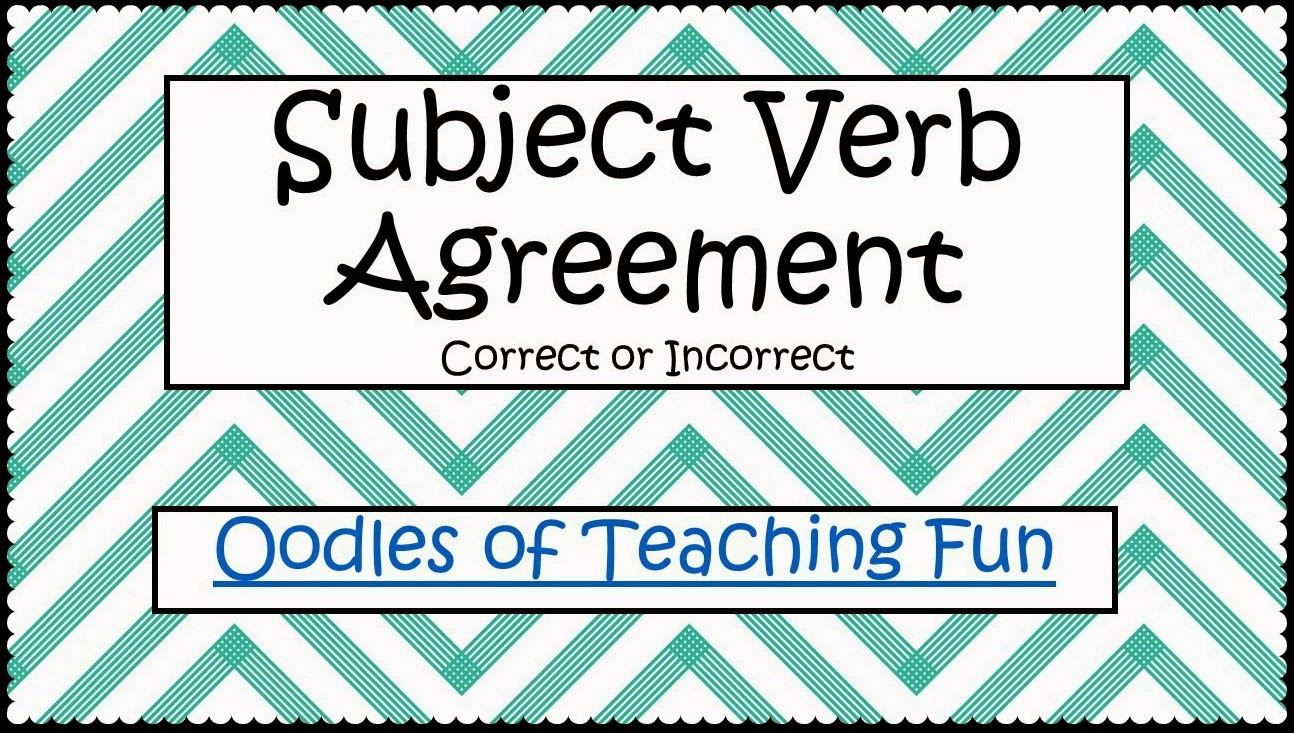 Subject Verb Agreement Practice Freebie Oodles Of Teaching Fun
