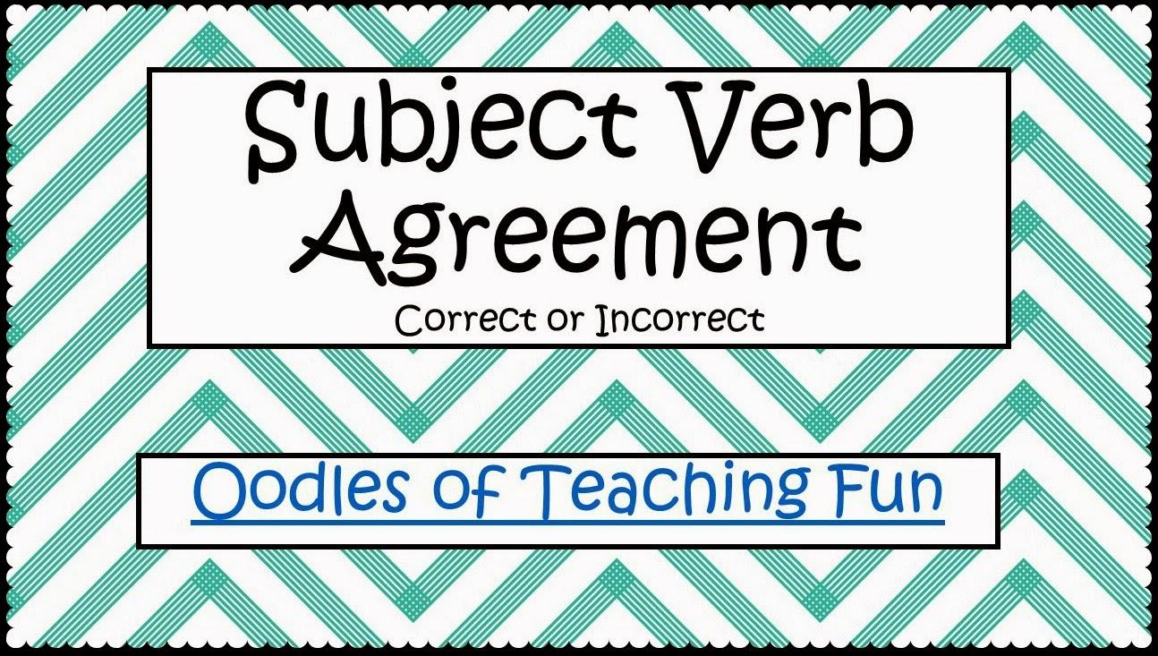 Subject Verb Agreement Practice Freebie Oodles Of Teaching Fun
