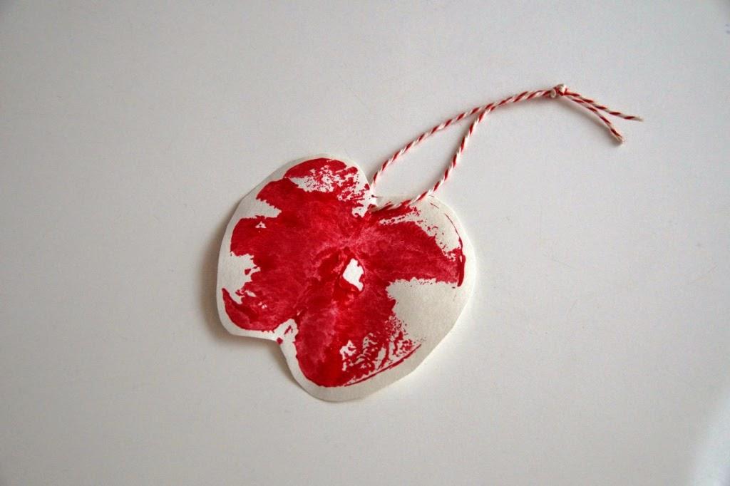 huisje boompje boefjes- apple print gift tag