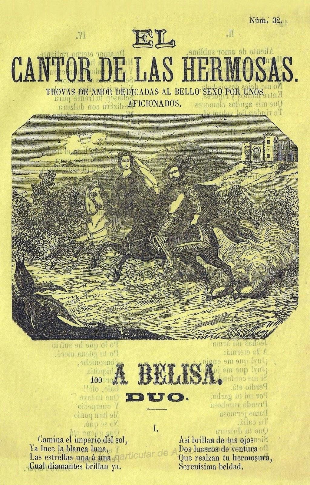 Número 32 de la serie 'El cantor de las hermosas' (año 1876).