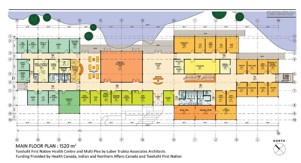 Tseshaht tribal multiplex and health centre by lubor for Multiplex floor plans