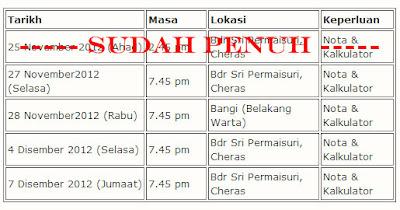 Jadual Seminar Hartanah, Seminar Pelaburan Hartanah
