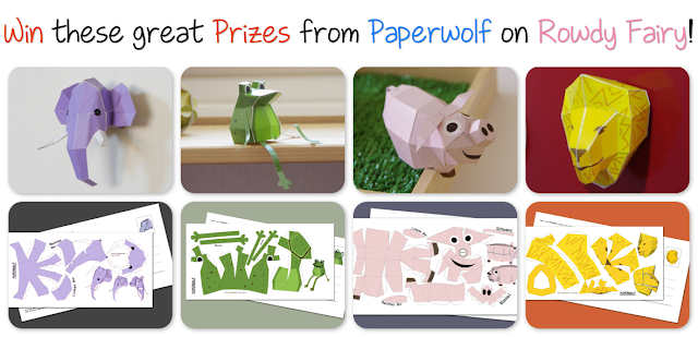 Win these paper creations for Paperwolf as part of the Rowdy Fairy Giveaway