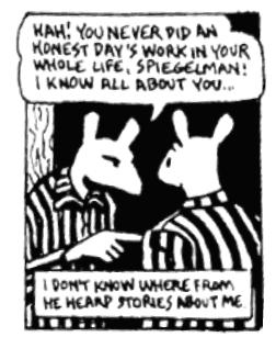 maus essay theme Conflict in maus ll essays the controversial graphic novel, maus ii is wrought with conflict the characters are all at odds with each other, and while their arguments might seem petty, there are underlying themes with important messages for example, the conflict between art and his father vladek r.