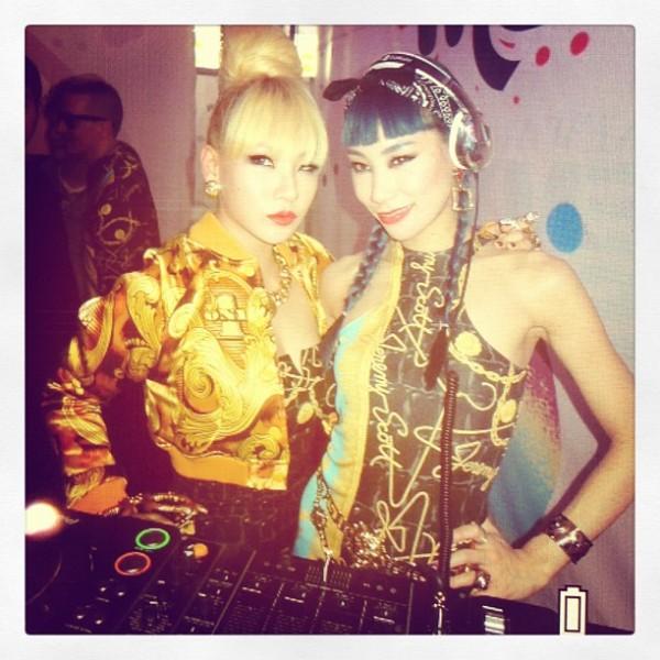 CL 2NE1 at Jeremy Scott's Party