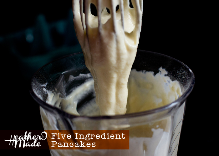 five ingredient pancakes. recipe.