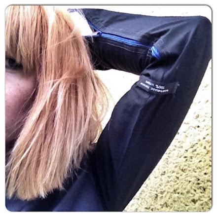 bluse schwarz zipper