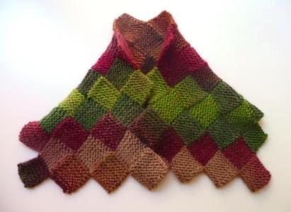 coprispalle scaldacollo sciarpa lana maglia entrelac