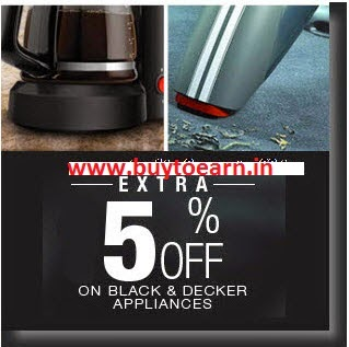 Flipkart: Buy Black & Decker Appliances upto 49% off + 5% off from Rs. 755