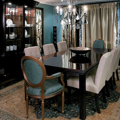 Southgate residential a new color fixation for Dining room ideas teal