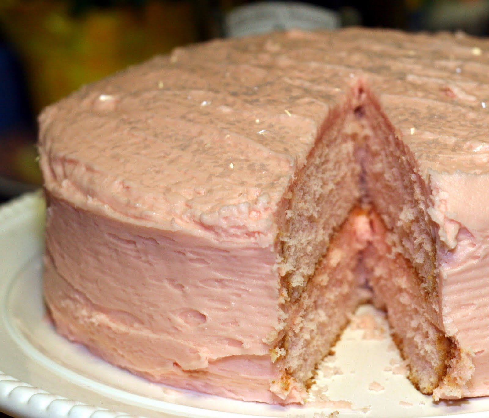 Pink Champagne Cake Images : Taste Tempters: Pink Champagne Cake